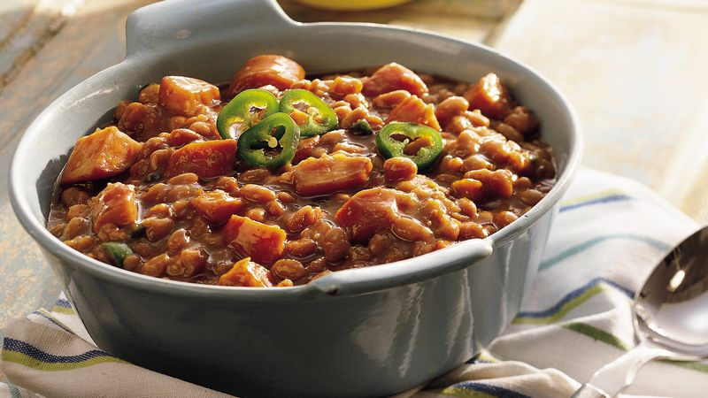 Smoked Sausage Baked Beans Crowd Size Recipe