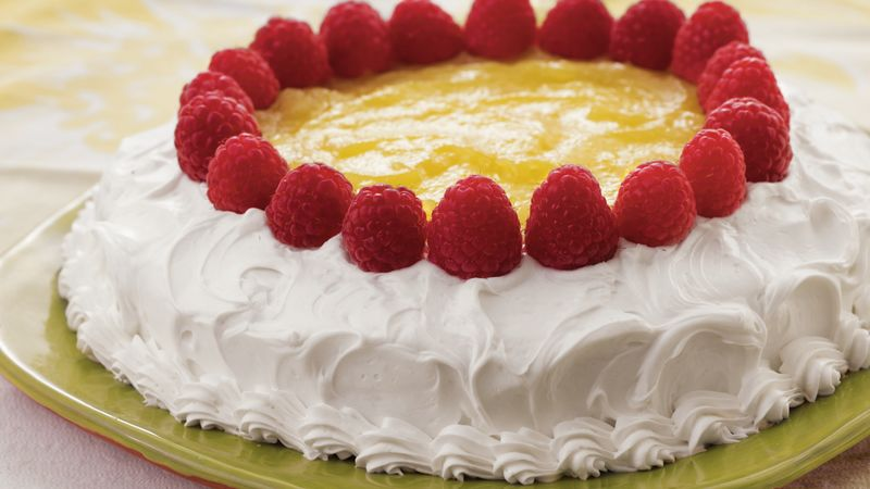 Lemon Topped Celebration Cake