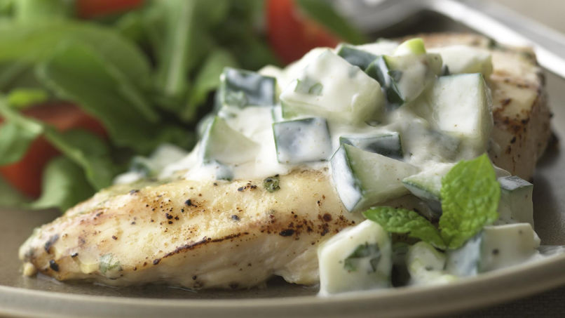 Chicken with Creamy Cucumber Sauce
