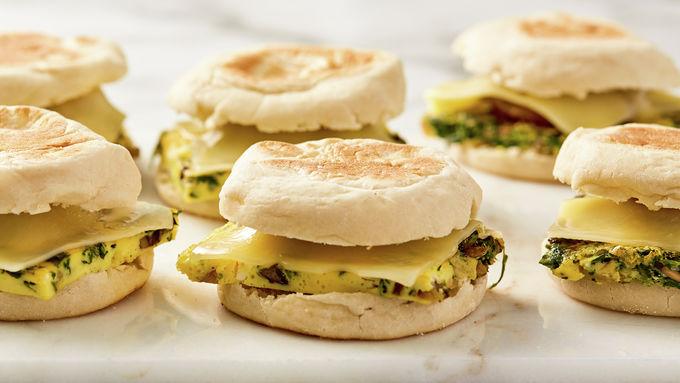 Make-Ahead Quiche and Sausage  Breakfast Sandwich