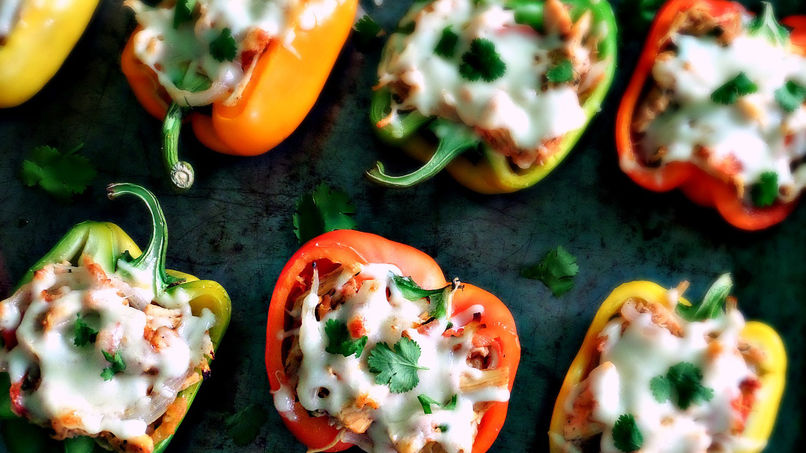 Bell Peppers Stuffed with Chicken Fajitas