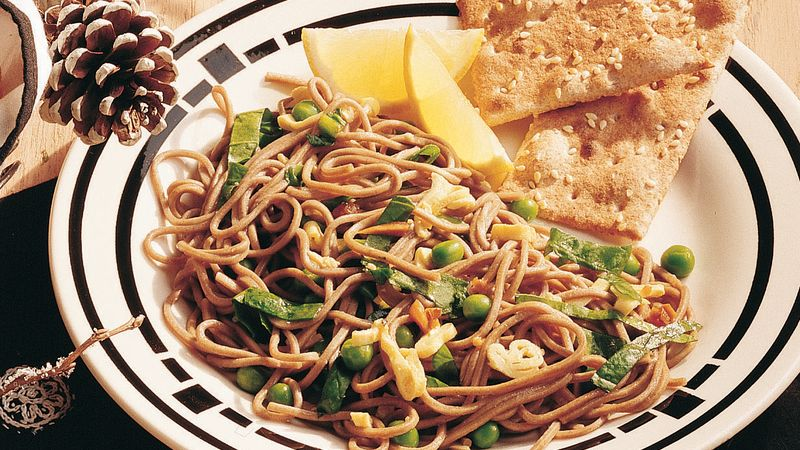 Lemon-Basil Vegetables and Noodles