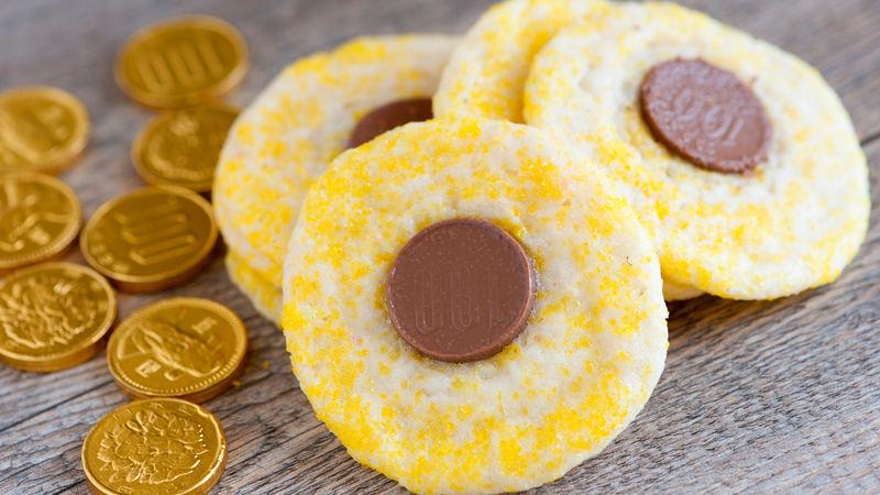 Hanukkah Gelt Cookies