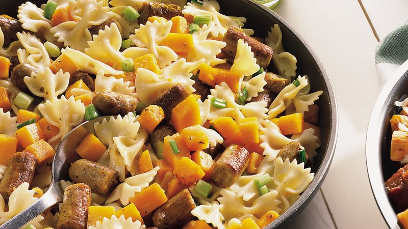 Butternut Squash, Sausage and Bow Ties