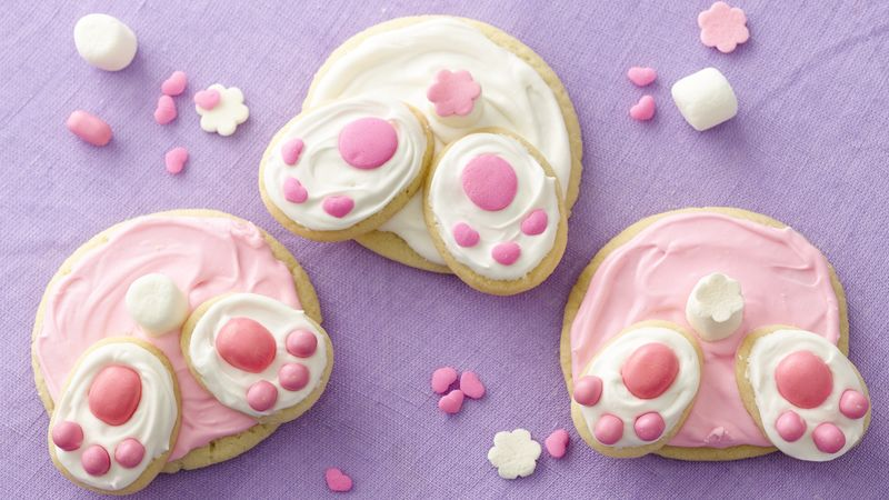 Bunny Butt Cookies | Easter Desserts Recipes to Make this Year