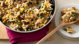 Corn and Green Bean Beef Stroganoff