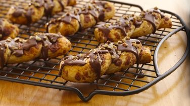 Mocha-Glazed Cinnamon Twists