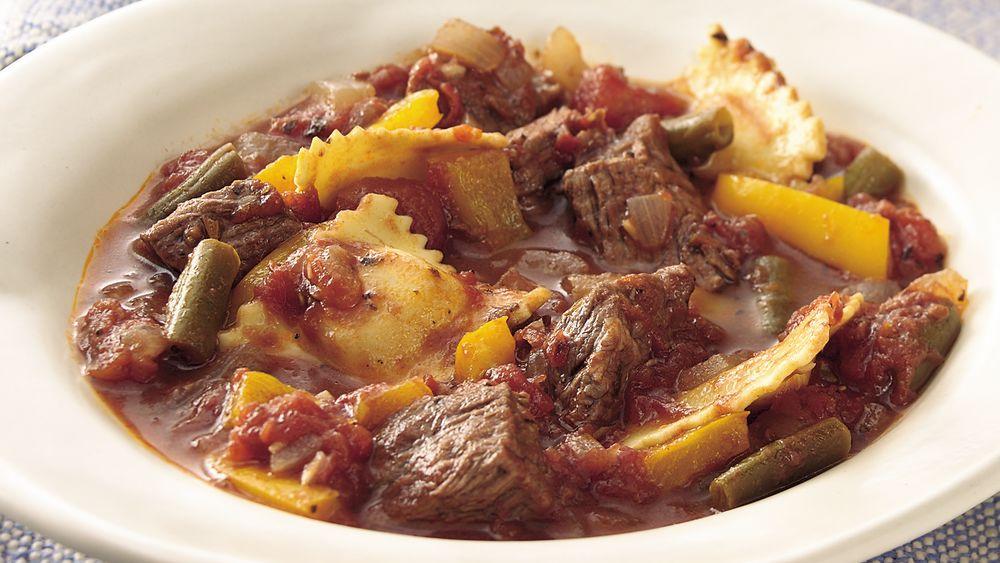 Italian Beef and Ravioli Stew
