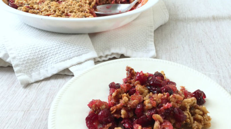 Cranberry Crisp Topped with Granola