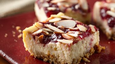 Cranberry Almond Cheesecake Squares