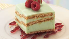 Key Lime Dessert with Raspberry Sauce