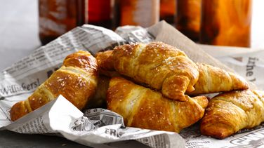 Salted Beer Pretzel Crescents
