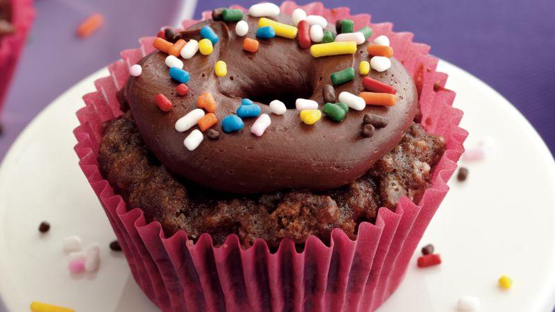 Chocolate Doughnut Cupcakes