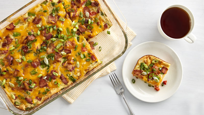 Easy Bacon and Asparagus Egg Casserole