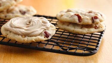 Peanut-Bacon Cookies with Maple Frosting