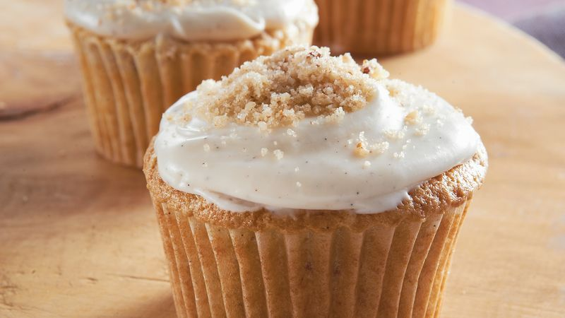 Brown Sugar-Pecan Cupcakes Recipe - BettyCrocker.com