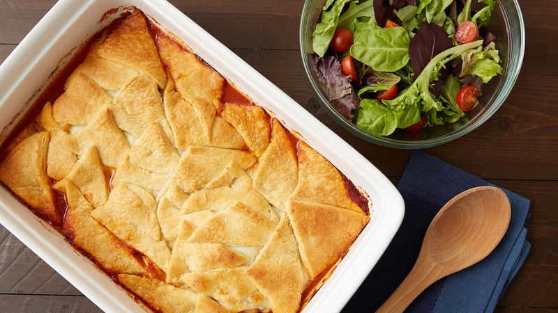Crescent-Topped Italian Chicken Casserole