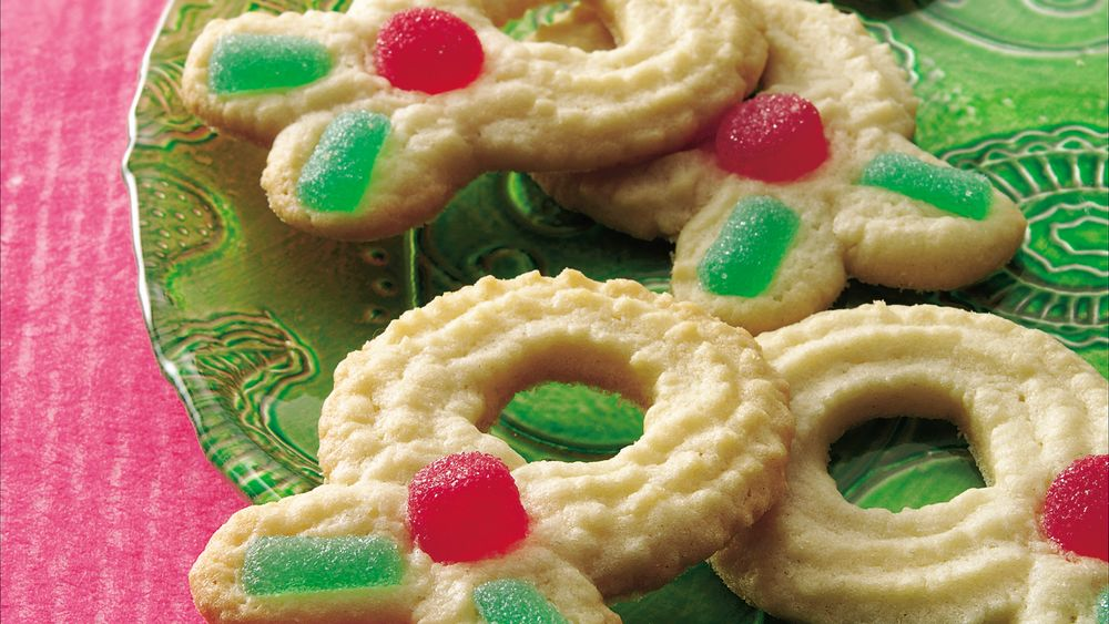 Sugar Cookie Spritz Wreaths