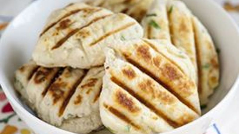 Grilled Chive and Green Onion Biscuits