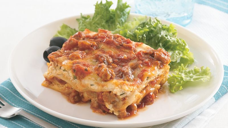 Lazy Day Overnight Lasagna