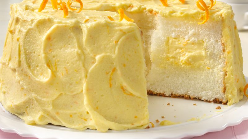 Orange Cream Angel Food Cake