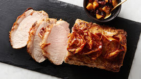 Pancetta-Wrapped Pork Loin with Cherry Mostarda