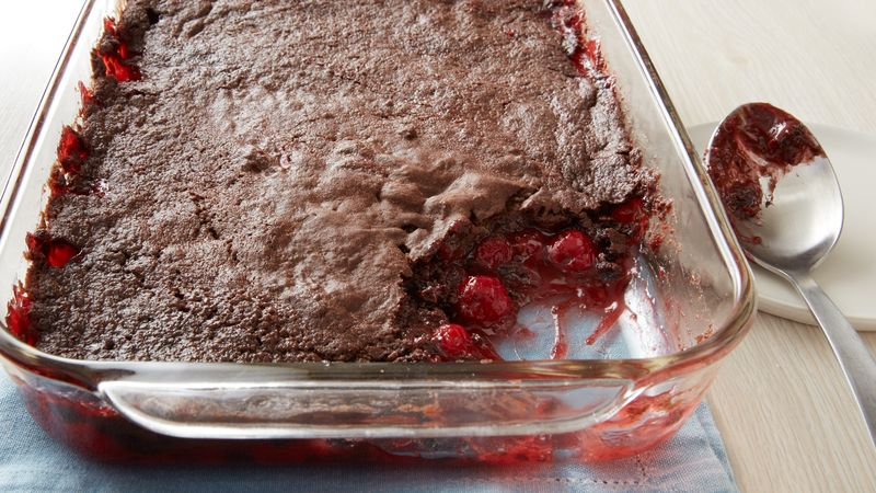 3 Ingredient Chocolate Cherry Dump Cake Recipe Bettycrocker Com