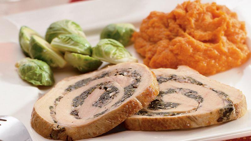 Slow Cooker Stuffed Pork Roast Recipe Bettycrocker Com