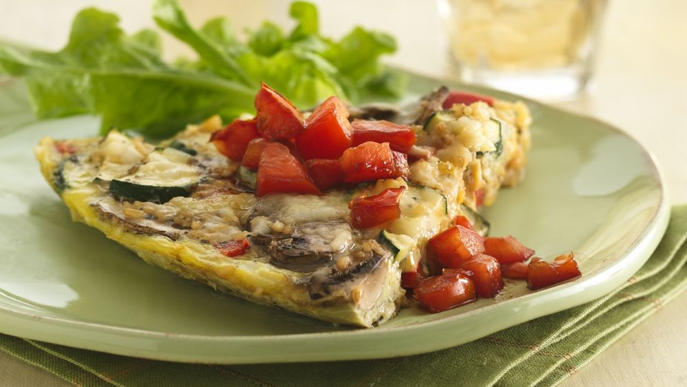 Italian Frittata with Vinaigrette Tomatoes