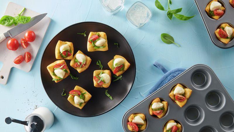 Mozzarella and Pesto Crescent Mini Tarts