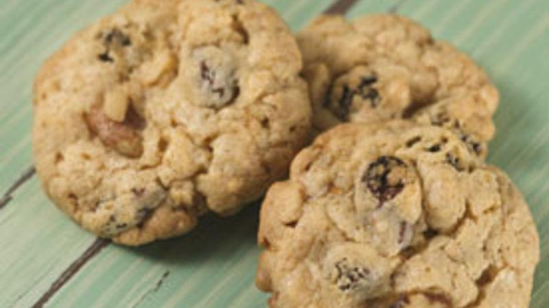 Cake Mix Oatmeal-Raisin Cookies