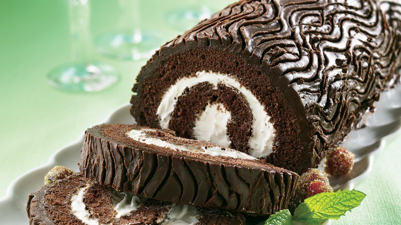 French Chocolate Log Cake