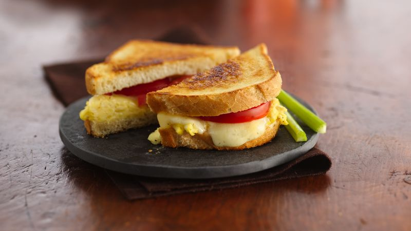 Scrambled Egg-Grilled Cheese Sandwiches