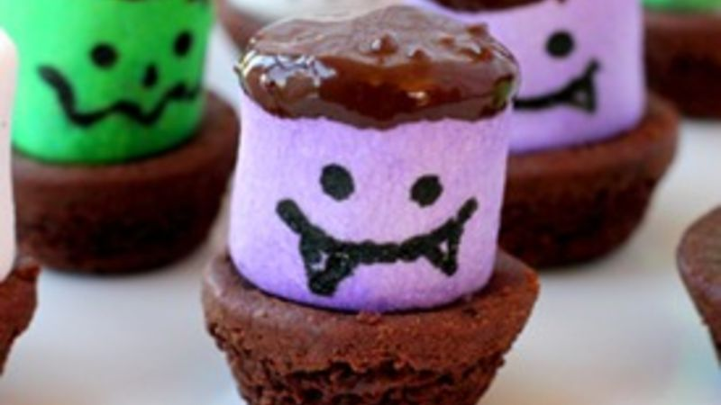 Creepy Brownie Bites