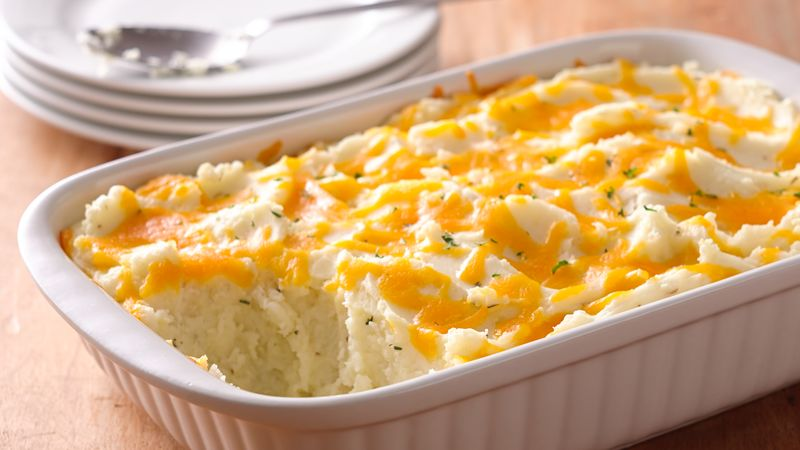 Two Cheese And Rosemary Mashed Potato Casserole Recipe