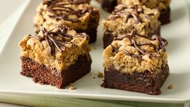 Chocolate-Oatmeal Brookie Bars