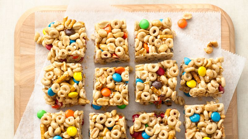 No bake sweet and salty cereal bars recipe bettycrocker no bake sweet and salty cereal bars ccuart Choice Image