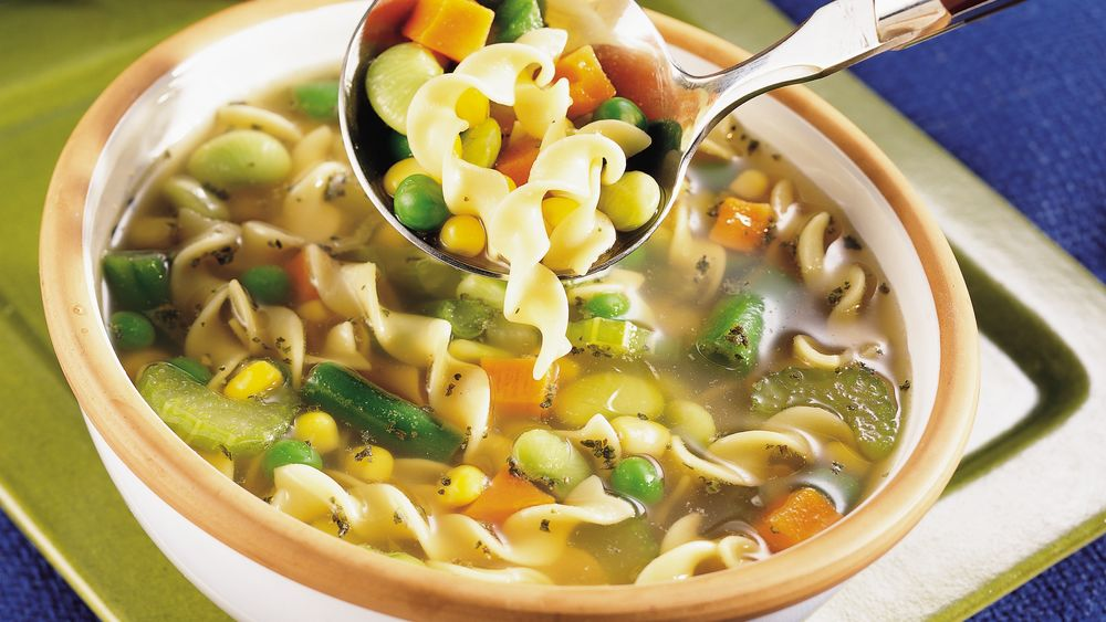 Vegetarian noodle soup recipe from for What vegetables to put in chicken noodle soup