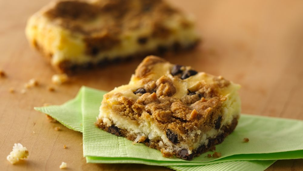 Chocolate Chip Cheesecake Bars (Crowd Size)