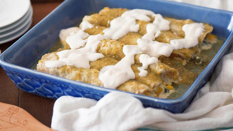 Enchiladas de Kale y Maíz