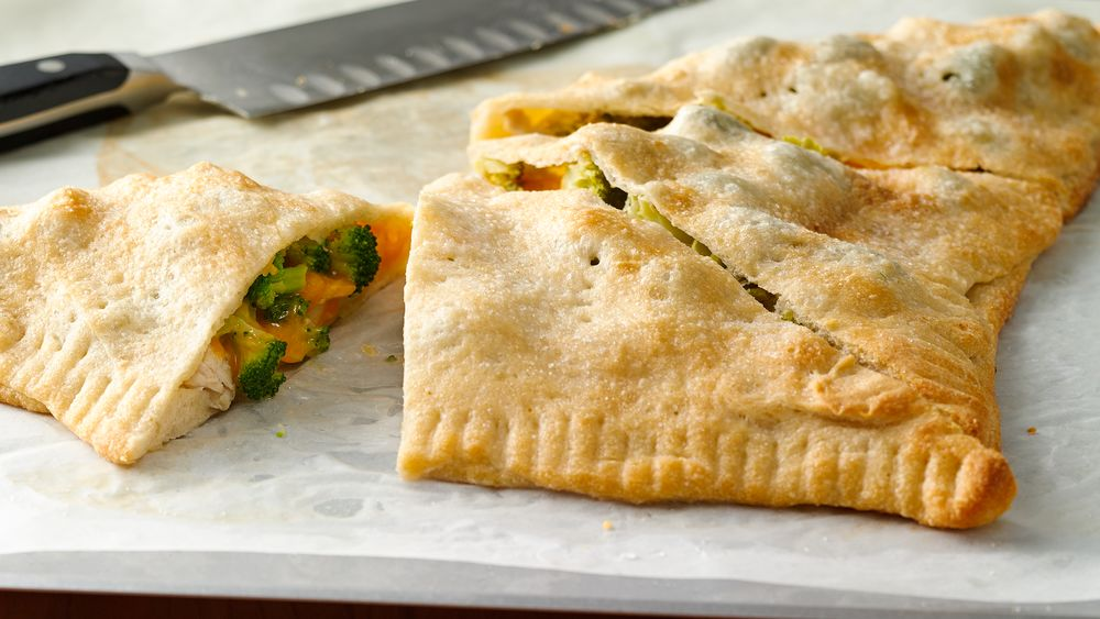 Family-Style Chicken Broccoli Cheddar Calzones