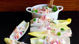 Endives with Shrimp Salad