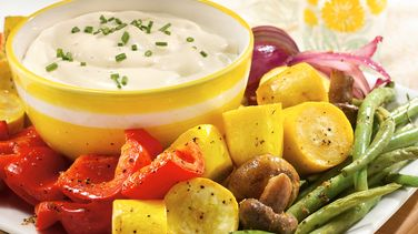 Roasted Vegetables with Spicy Aïoli Dip