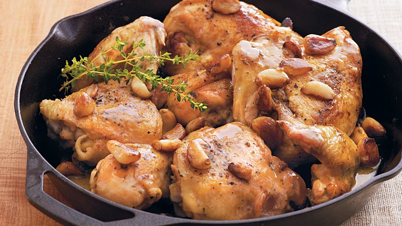 Blistered Chicken and Garlic