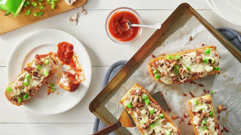 French Bread Garlic Toast Pizza