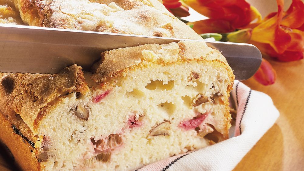 Toasted Pecan and Rhubarb Bread