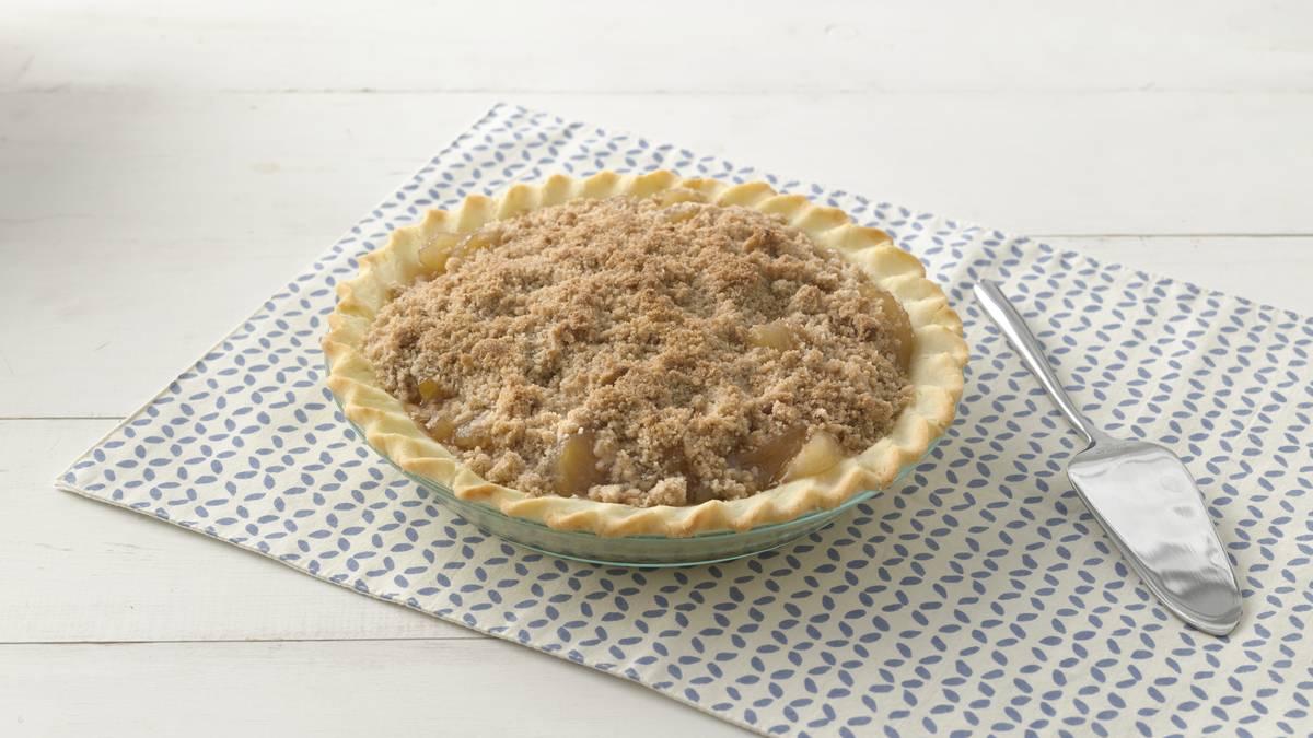 Tarte aux pommes avec streusel sans gluten facile à préparer