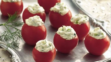 Cucumber-Dill Stuffed Cherry Tomatoes