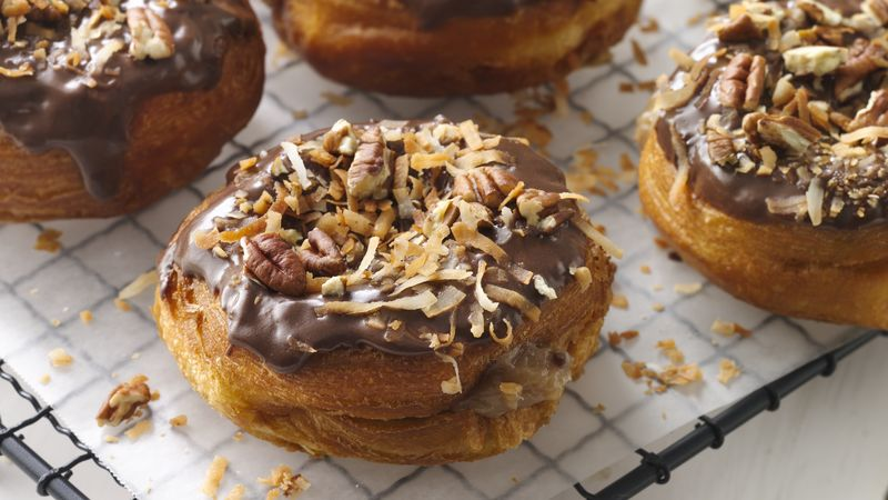 German Chocolate Doughnuts