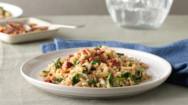 Chicken and Pancetta Risotto with Tallegio
